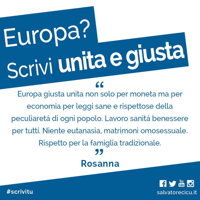 Europa? Unita e giusta