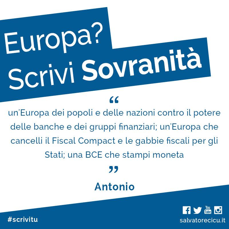 Europa? Scrivi Sovranità