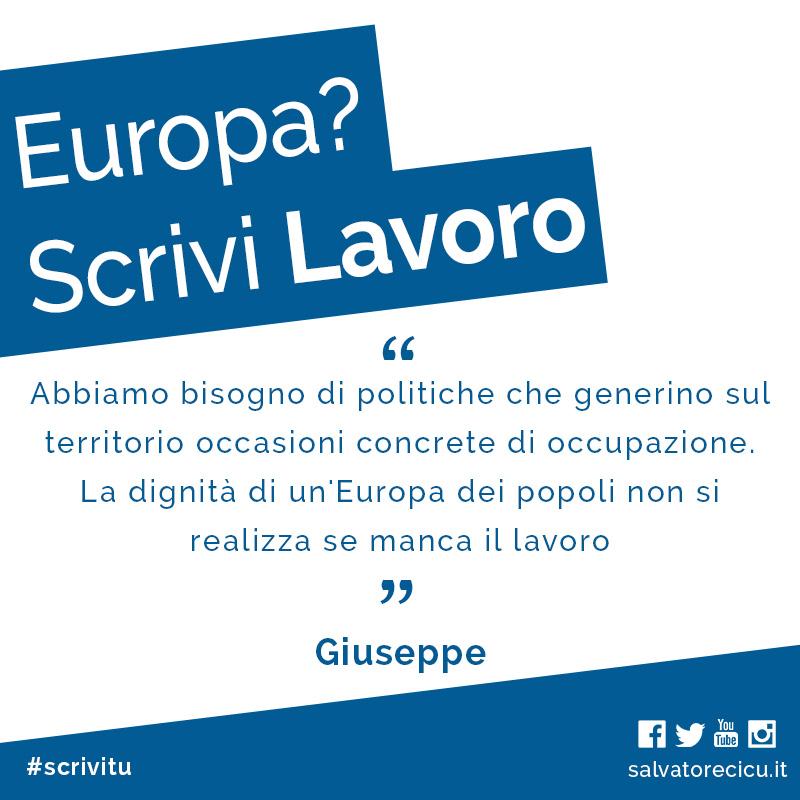 Europa? Scrivi Lavoro