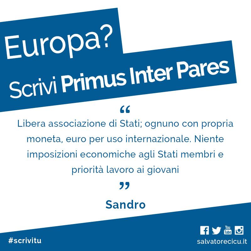 Europa? Scrivi Primus Inter Pares
