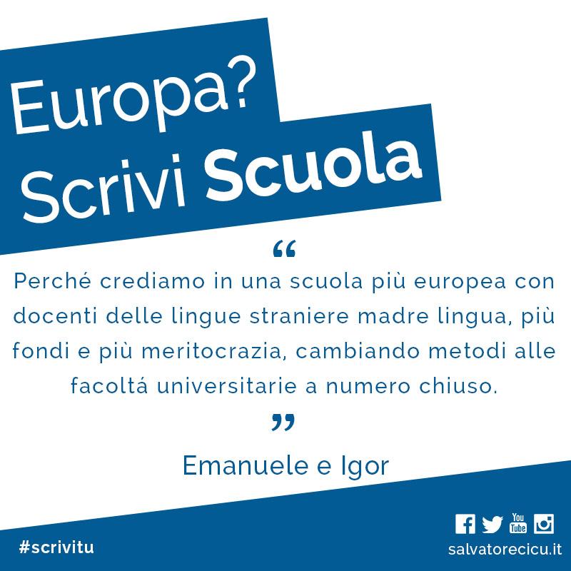 Europa? Scrivi Scuola