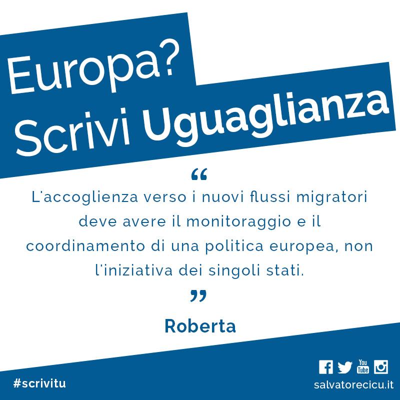 Europa? Scrivi Uguaglianza